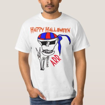 Beach Themed Halloween Pirate T-Shirt