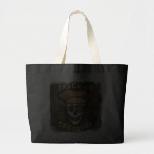 Halloween Pirate Trick or Treat Candy Bag bag