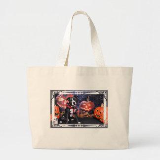 Halloween - Pitbull - Loki Canvas Bags