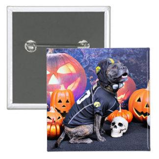 Halloween - Pitbull - Marley Pinback Button