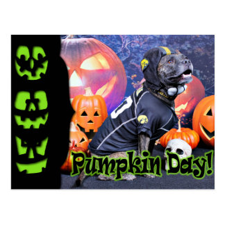 Halloween - Pitbull - Marley Tarjeta Postal