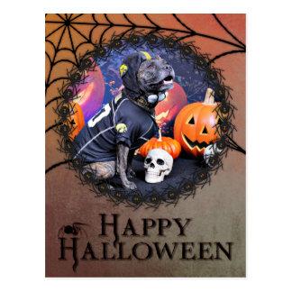 Halloween - Pitbull - Marley Postales