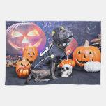 Halloween - Pitbull - Marley Towel