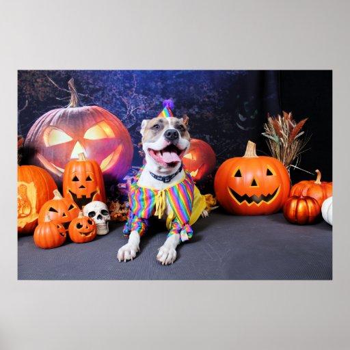 Halloween - Pitbull - Tyson Posters