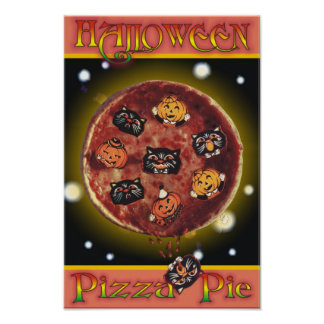 Halloween Pizza Pie Poster