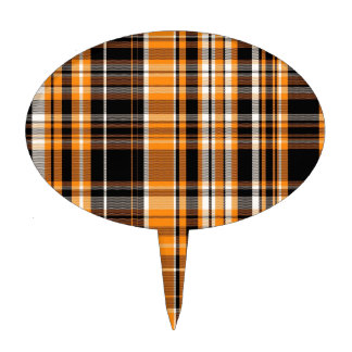 Halloween Plaid Cake Toppers