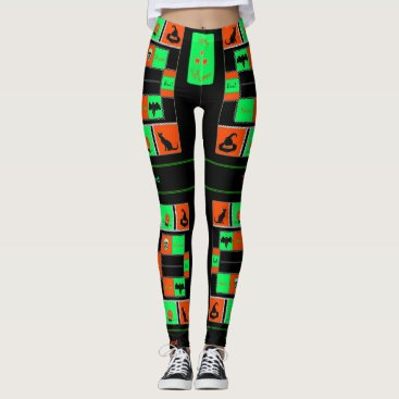 Halloween Themed Halloween Plaids (Tricked & Treated Out) Leggings