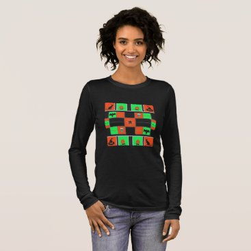 Halloween Themed Halloween Plaids (Tricked & Treated Out) Long Sleeve T-Shirt