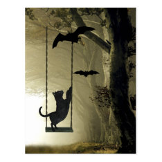 Halloween Play Postcard at Zazzle