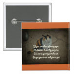 Halloween Poem - Calico Cat Pinback Button