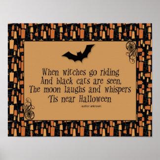 Halloween Poem Poster