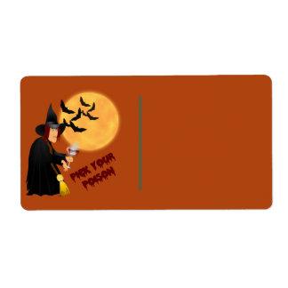 Halloween Poison Gift Label