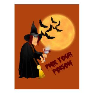 Halloween Poison Recipe Card