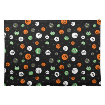 Halloween Themed Halloween Polka Dot Faces Placemat