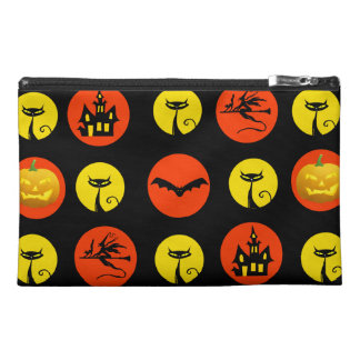 Halloween Polka Dots Bats Black Cats Witches Gifts Travel Accessories Bag