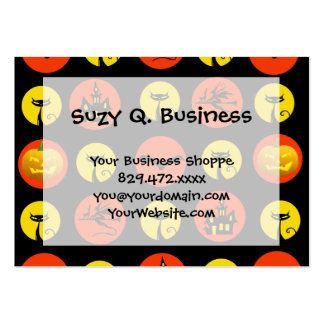 Halloween Polka Dots Bats Black Cats Witches Gifts Business Cards