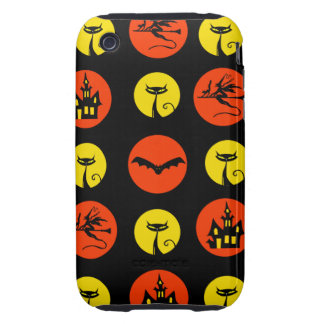 Halloween Polka Dots Bats Black Cats Witches Gifts iPhone 3 Tough Cases