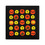 Halloween Polka Dots Bats Black Cats Witches Gifts Jewelry Boxes