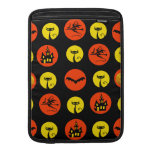 Halloween Polka Dots Bats Black Cats Witches Gifts MacBook Air Sleeves