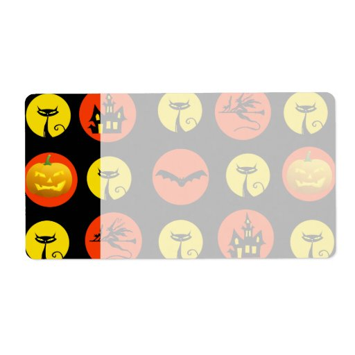Halloween Polka Dots Bats Black Cats Witches Gifts Custom Shipping Label