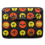 Halloween Polka Dots Bats Black Cats Witches Gifts MacBook Pro Sleeves