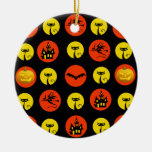Halloween Polka Dots Bats Black Cats Witches Gifts Christmas Ornaments