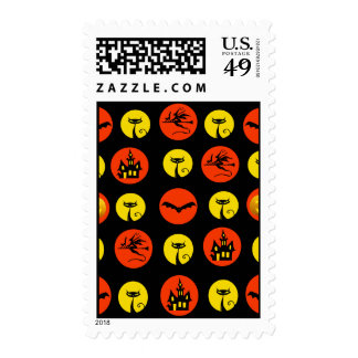 Halloween Polka Dots Bats Black Cats Witches Gifts Postage