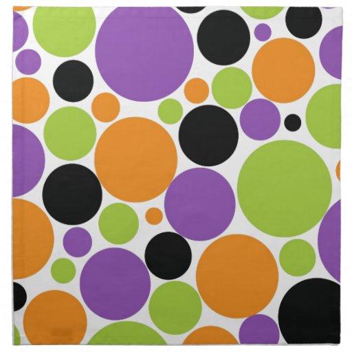 Halloween polka dots cloth napkin zazzle for Halloween cloth napkins