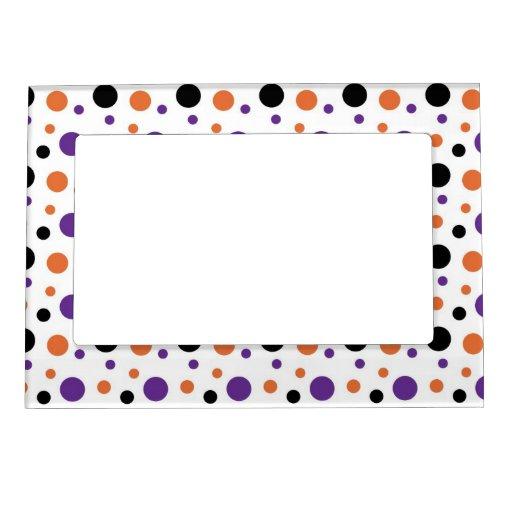 Halloween Polka Dots Frame Magnets