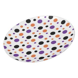 Halloween Polka Dots Melamine Plate