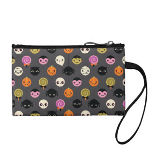 Halloween Polka Dots Pattern Coin Wallet