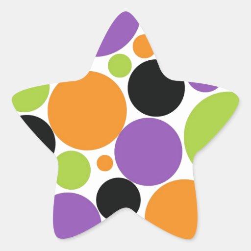 Halloween Polka Dots Star Sticker