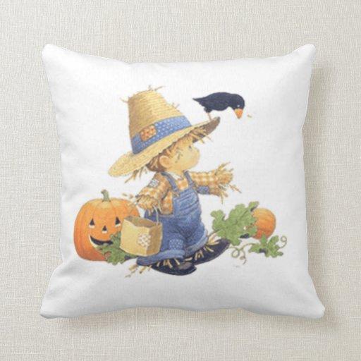 Throw Pillows Lagos : Halloween Polyester Throw Pillow/Scarecrow Boy Throw Pillow Zazzle