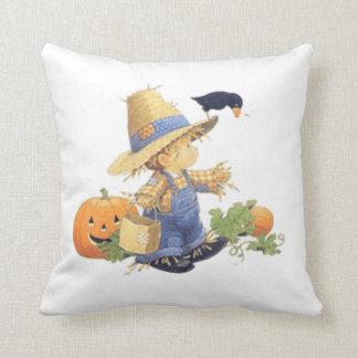 Halloween Polyester Throw Pillow/Scarecrow Boy Throw Pillow