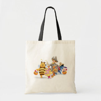 Halloween Pooh and Freinds Tote Bag
