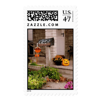 'Halloween Porch' Postage