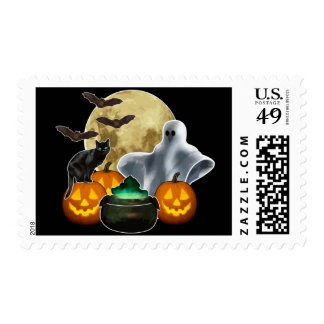 Halloween Postage Stamp