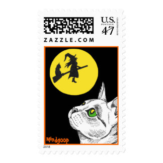 Halloween postage stamps