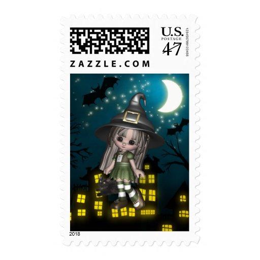 Halloween Postage Stamps