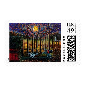 Halloween,postage,stamps,headless,horseman Postage