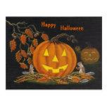 Halloween, postal, chipmunk, Jack-o-Linterna