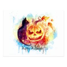 Halloween Postcard at Zazzle