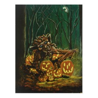 Halloween,postcard,elf,knome,fairy,woodland,forest
