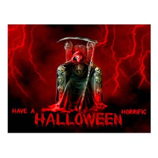 Halloween Postcard/Grim Reeper with Lightening Postcard