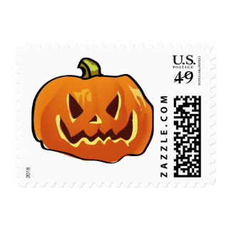 Halloween postcard stamps