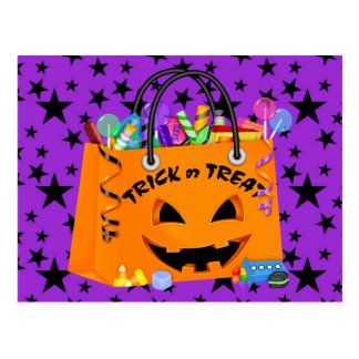 Halloween Postcard Trick or Treat Invitation