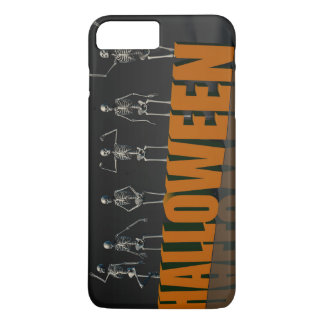Halloween Postcard with Skeleton Group Crowd Movin iPhone 7 Plus Case