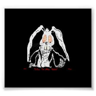 Halloween Poster Follow the White Rabbit by:da'vy
