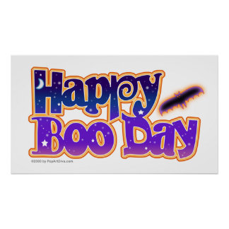 Halloween Posters, Banners - Happy Boo Day Poster
