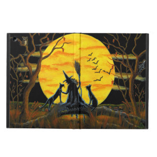 Halloween powiscase, ipad,witch,moon,cats iPad air cover